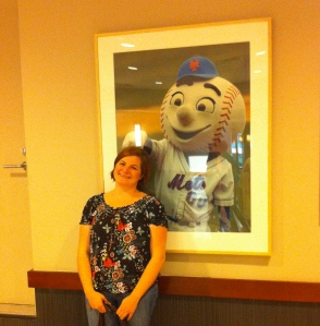 Me and the creepiest mascot of all time.